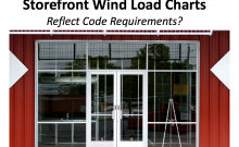 Manufacture storefront wind load charts