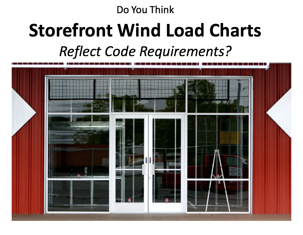 manufacturer storefront wind load charts still need engineering